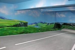 长沙地下停车场墙绘展示