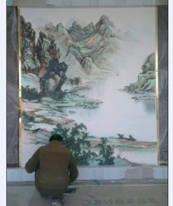 龙岩万达样板房客户墙绘案例展示