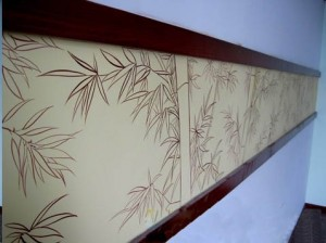 福州静心养生馆手绘墙图案展示