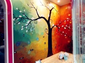 广州服装连锁店墙绘设计彩绘