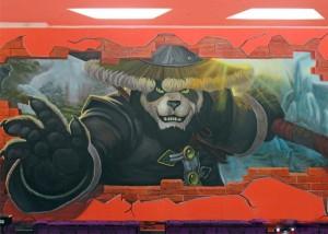 合肥实间网吧3D画-熊猫人到来