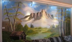 杭州阳光墙绘手绘墙作品