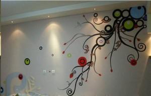 龙岩连城抽象类手绘墙素材
