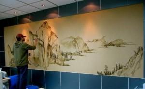 南昌保洁用品公司墙绘展示