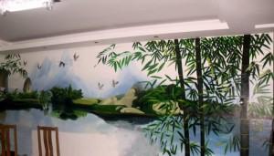 宁德市霞浦县卢家墩小区某居民家中墙绘展示