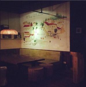 宁德周宁县某咖啡厅墙绘展示