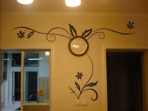 宁德蕉城区走廊玄关手绘墙展示