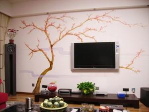南平市延平区家居电视背景墙绘展示