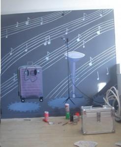 南平某琴行手绘墙素材