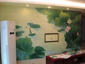 莆田荔城区电视墙绘展示
