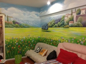 莆田清新自然的家装墙绘展示