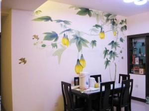 武汉青山区餐厅墙绘作品展示