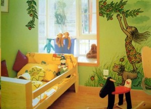 长沙望城区儿童房墙绘