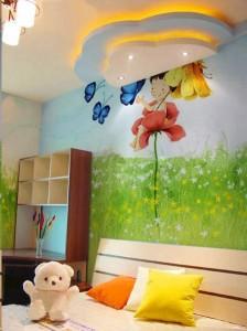 天津和平区儿童房墙绘展示