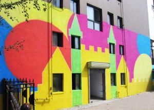 纵横创意 郑州金芭蕾幼儿园外墙彩绘