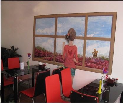 宁德墙绘 宁德酒店会所墙体彩绘公司