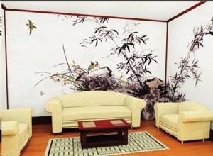 漳州诏安沙发背景墙绘
