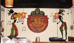 漳州角美印度题材墙绘