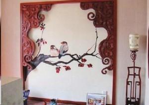 墙体彩绘受青睐 家庭装修新选择