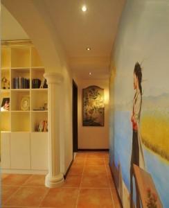 郑州金水区温馨欧式过道墙绘展示