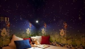 九洲城墙绘儿童房实景图装饰墙