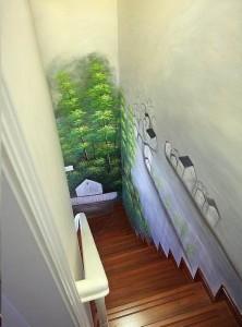 吴中区居民楼梯过道墙绘展示