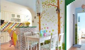 餐厅田园标点设计墙绘案例