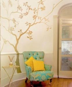 欧式客厅墙绘案例展示