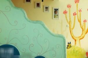 漫画男装田园风复式家 手绘墙壁满足未泯童心