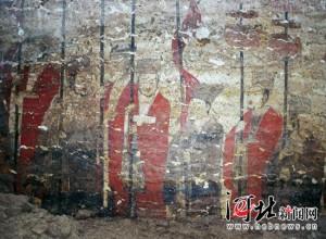 邯郸邺城遗址北朝墙绘:满壁风动画中仙