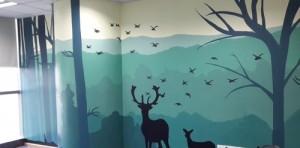 莆田自然风格墙绘展示