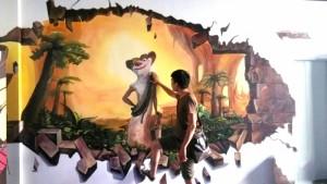 南平3D墙绘展示案例