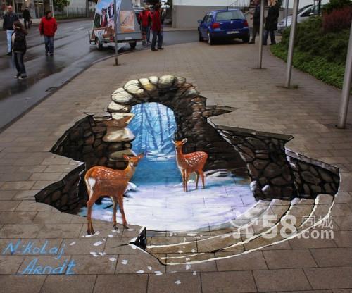 深圳3d手绘墙 地面立体画