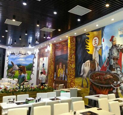 珠海餐厅墙绘 珠海酒店手绘墙
