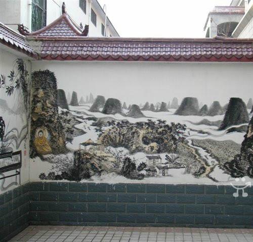 龙海手绘墙画 漳州龙海墙体彩绘公司