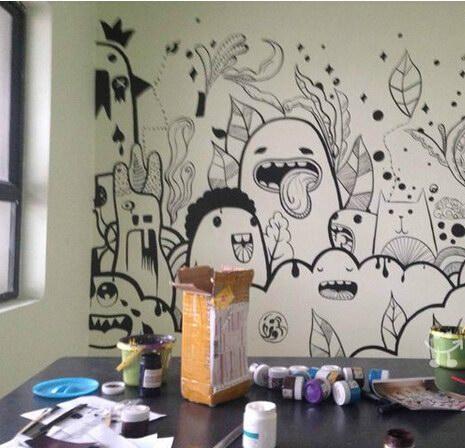 龙岩手绘墙绘公司 大龙岩墙绘