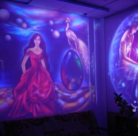 漳州KTV墙绘 漳州酒吧墙绘 娱乐会所手绘墙绘