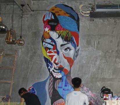厦门电视背景墙手绘墙画