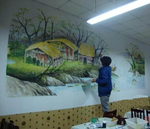 漳州饭店墙绘 饭店手绘墙