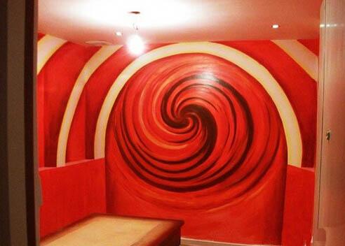 重庆娱乐会所墙绘 重庆会所手绘墙
