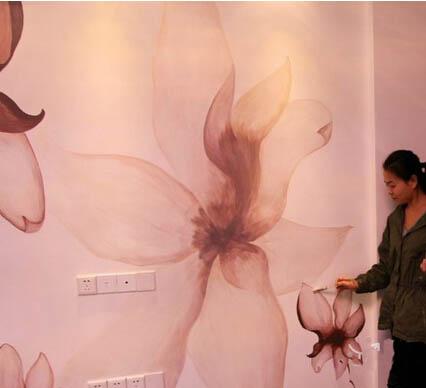 昆明客厅墙绘 昆明家庭手绘墙