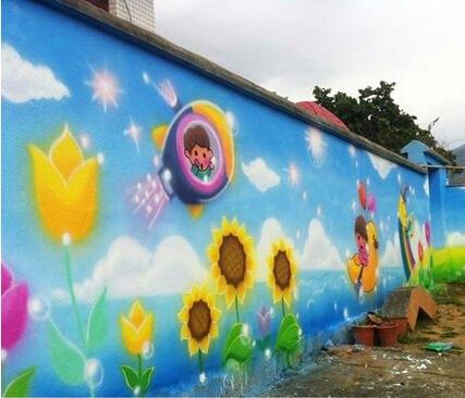 温州文化墙手绘墙 温州街头墙绘