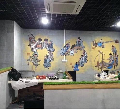 深圳公司墙绘 办公室手绘墙壁画