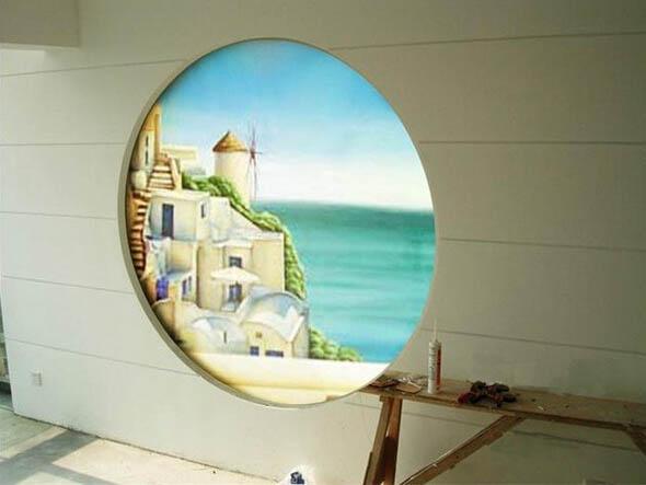 杭州地中海风格墙绘