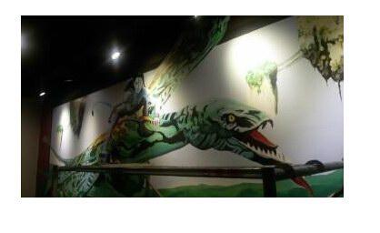 天津手工墙绘 主题包厢墙体彩绘