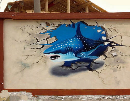 沈阳3D立体画 沈阳3D墙绘 壁画 墙体彩绘
