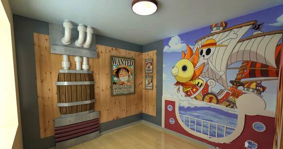 东莞海贼王主题包厢墙绘、壁画、手绘墙