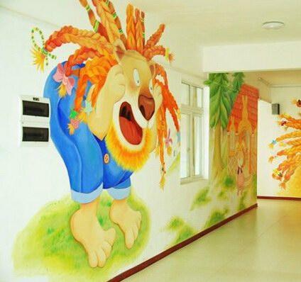 郑州幼儿园手绘墙、卡通墙绘