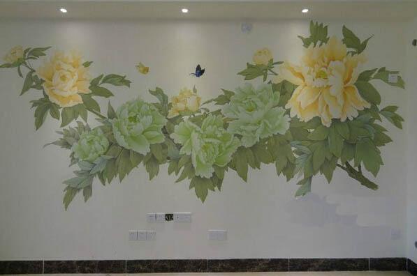 重庆家装客厅墙壁绘画工程案例