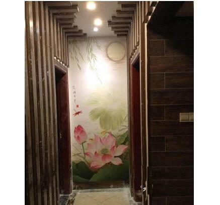 常州家庭玄关手绘墙画 玄关画什么比较好?
